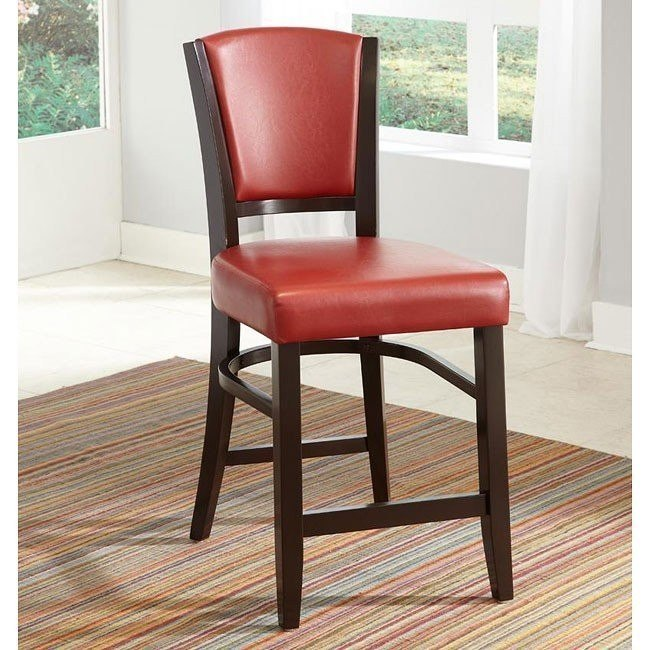 10368 Series Counter Height Stool (Red) (Set of 2)