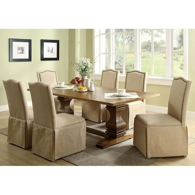 Parkins Dining Room Set w/ Skirt Chairs