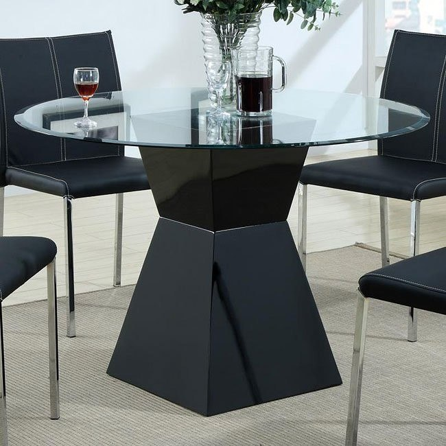 Modern Black Dining Table