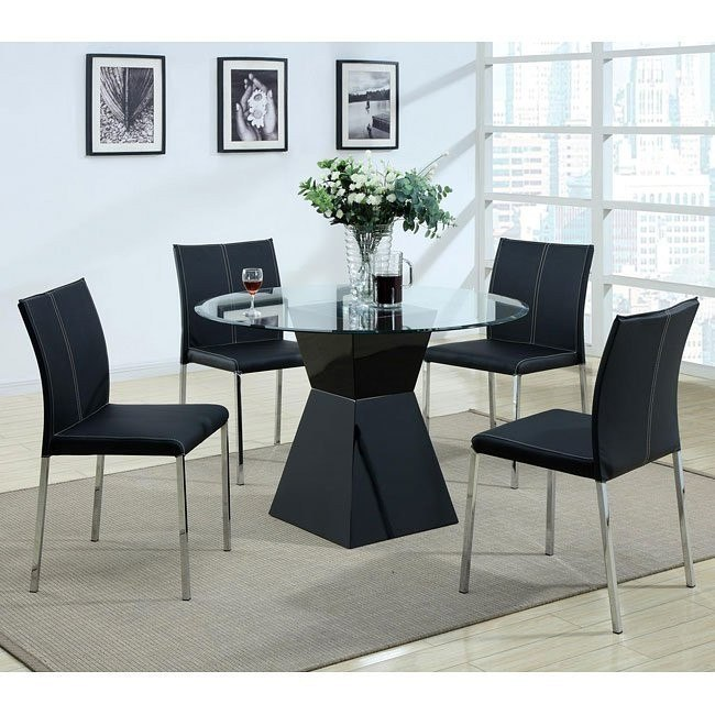Modern Dinette w/ Black Chairs