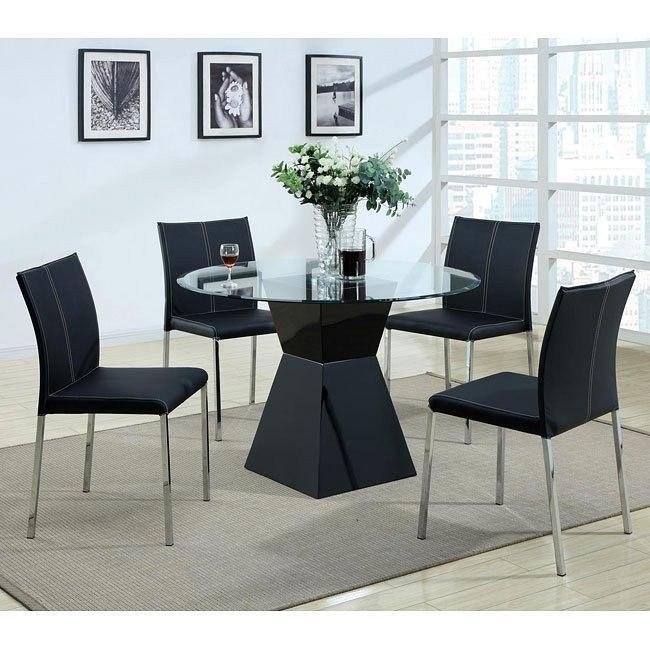 Modern Dinette w/ Black Chairs