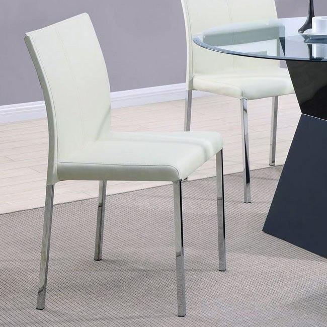 Modern Dining Chair (Cream) (Set of 4)