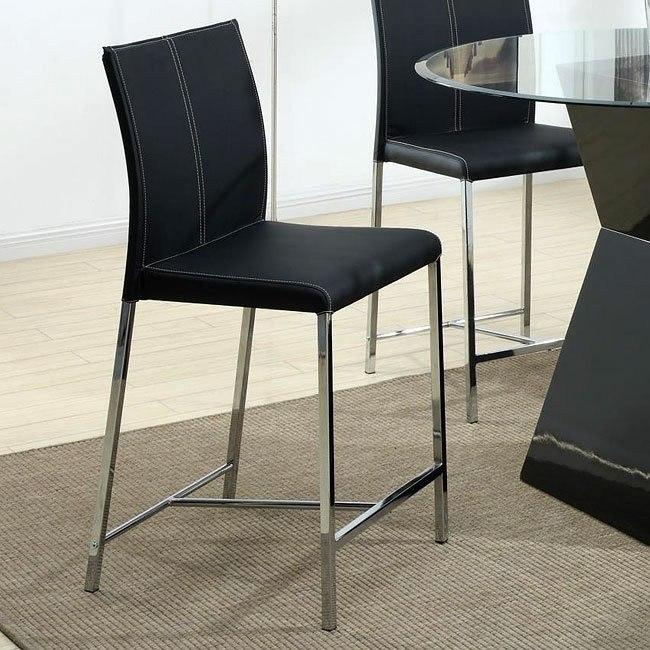 Modern Counter Height Stool (Black) (Set of 4)