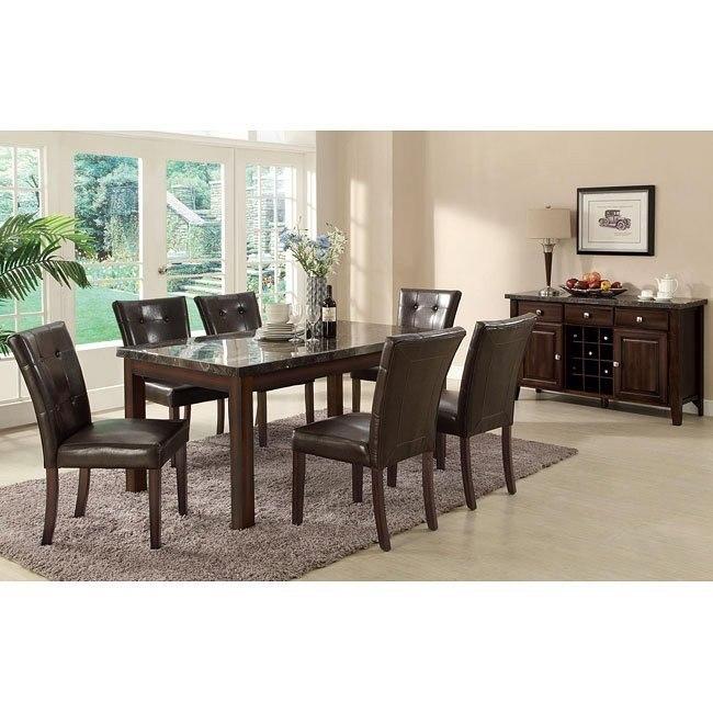 Milton Dining Room Set w/ Dark Marble Table