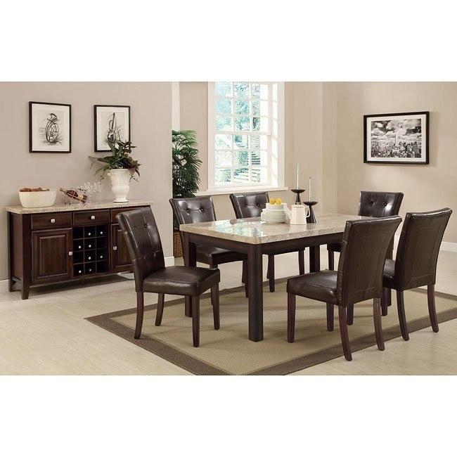 Milton Dining Room Set w/ Light Marble Table