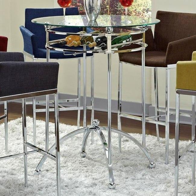 Modern Bar Table w/ Wine Rack