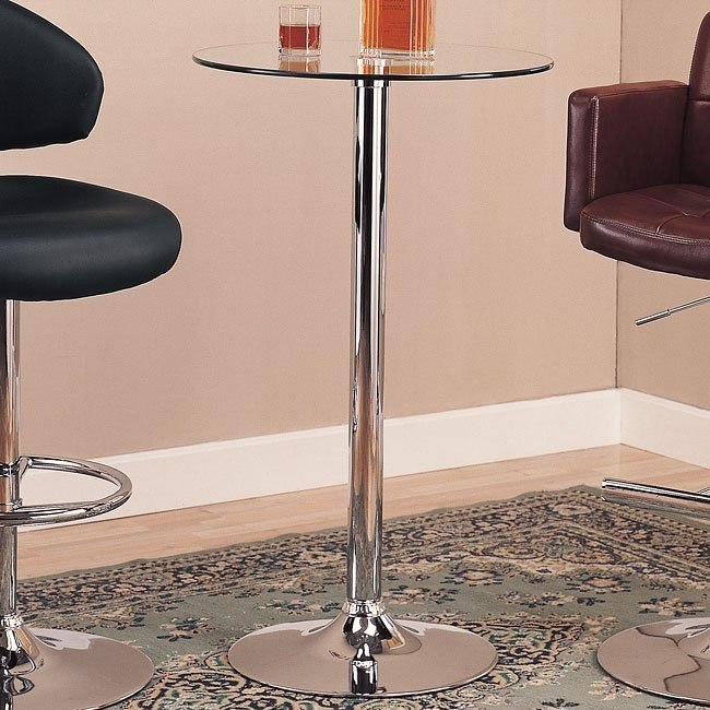 Round Bar Table (Glass Top)