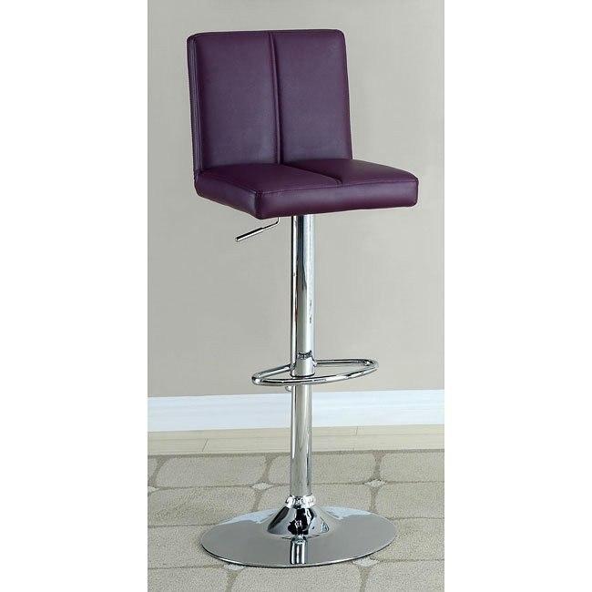 Modern Adjustable Barstool (Purple)