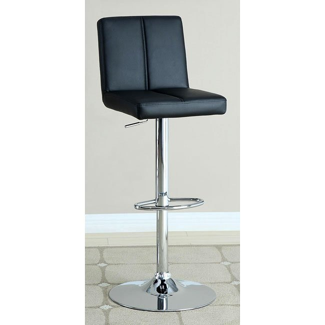 Modern Adjustable Barstool (Black)