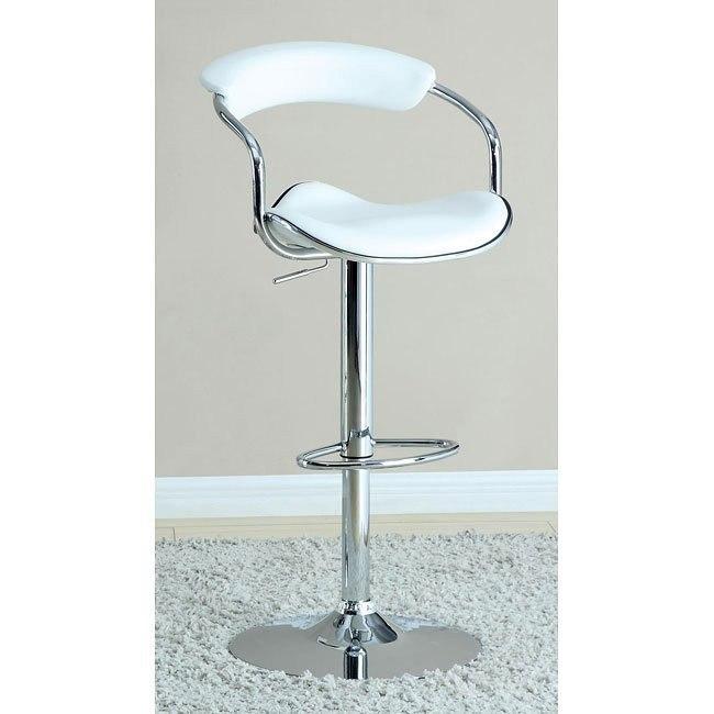 Modern Adjustable Barstool (White)