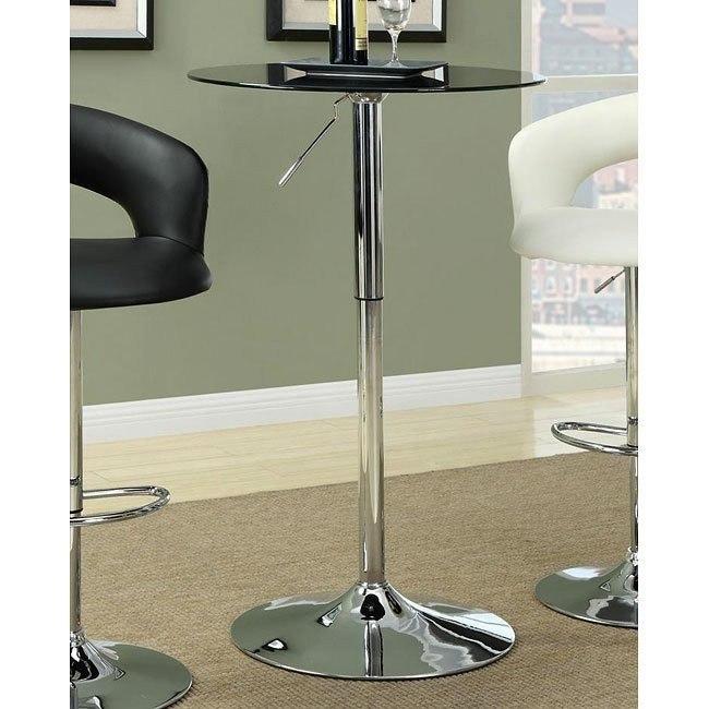 Black Adjustable Bar Table