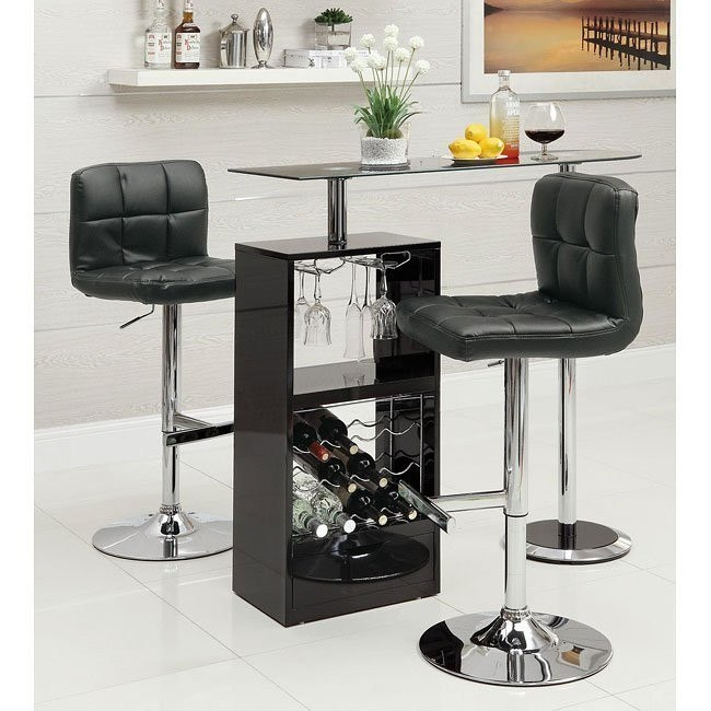 12045 Series Home Bar Set (Black)