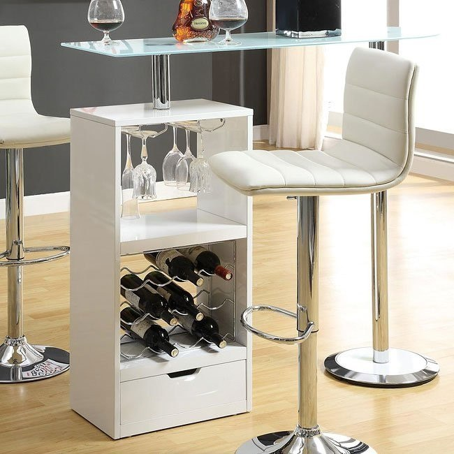 12045 Series Modern Bar Table (White)