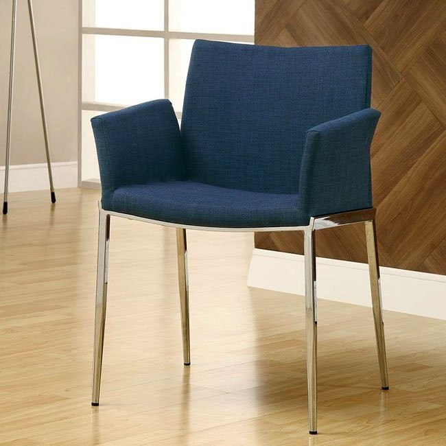 Modern Dining Chair (Blue) (Set of 2)