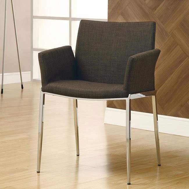 Modern Dining Chair (Coffee) (Set of 2)