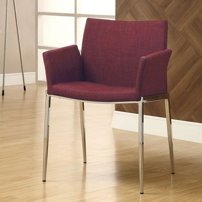 Modern Dining Chair (Cranberry) (Set of 2)