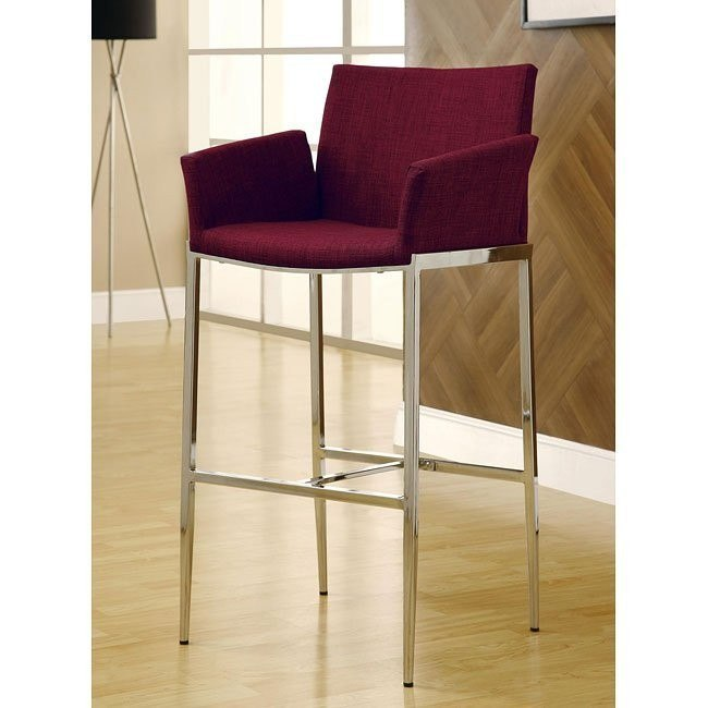 Modern Barstool (Cranberry) (Set of 2)