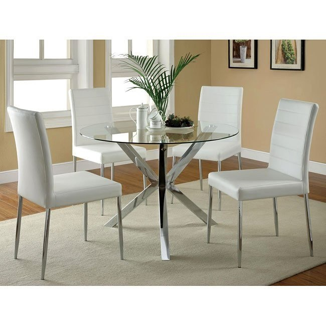 Vance Dinette w/ White Chairs