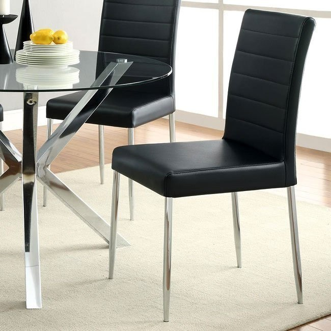 Vance Dining Chair (Black) (Set of 4)