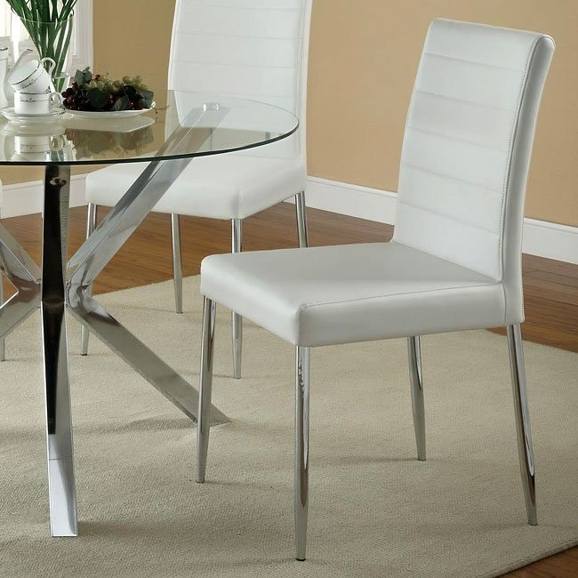 Vance Dining Chair (White) (Set of 4)