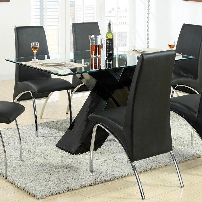 Ophelia X-Base Dining Table (Black)