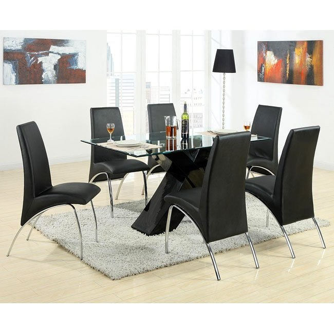 Ophelia Dining Room Set w/ Black X-Base Table