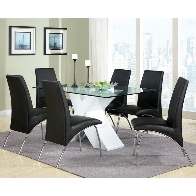 Ophelia Dining Room Set w/ White X-Base Table