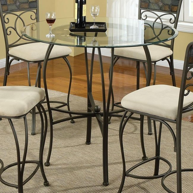 12083 Series Metal Counter Height Table