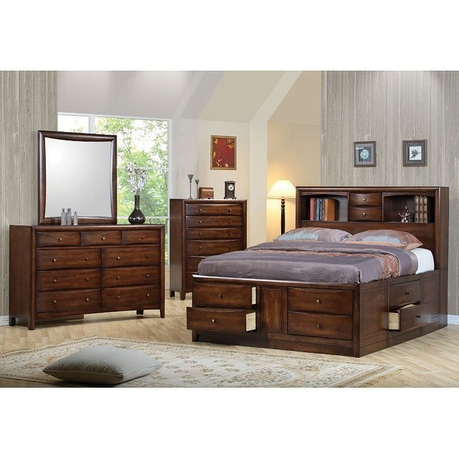 Hillary and Scottsdale Bookcase Bedroom Set