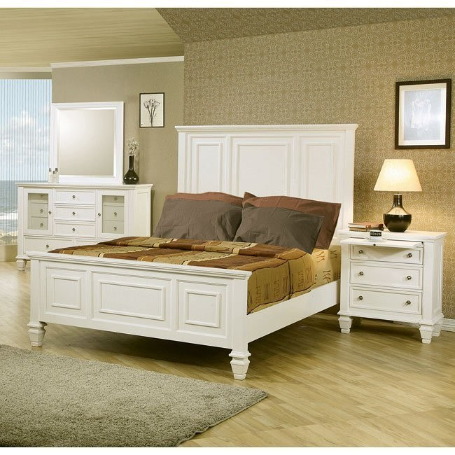 Beach Bedroom Set: Sandy Beach Panel Bedroom Set (White) By Coaster Furniture