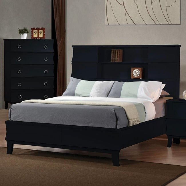 Holland Bookcase Bed (Black)