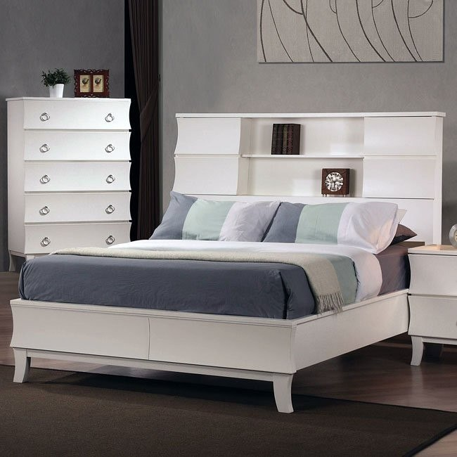Holland Bookcase Bed (White)