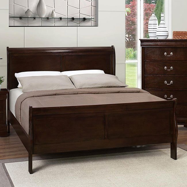Louis Philippe Bed (Cappuccino)