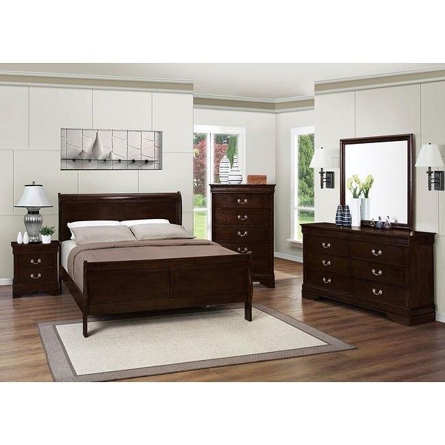 Louis Philippe Bedroom Set (Cappuccino)
