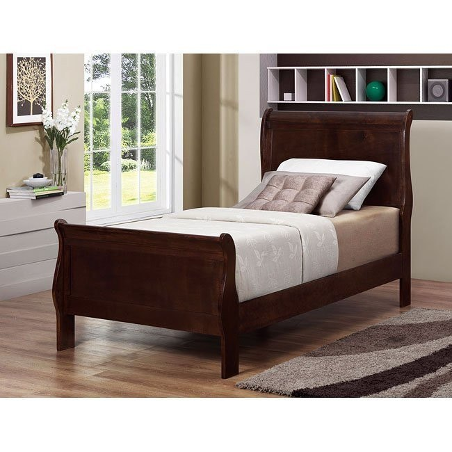 Louis Philippe Youth Bedroom Set (Cappuccino)