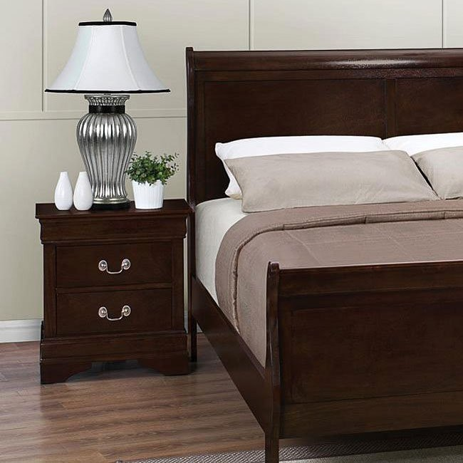 Louis Philippe Nightstand (Cappuccino)