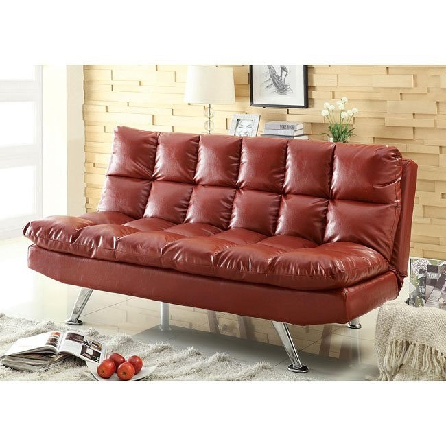 Contemporary Sofa Bed Red
