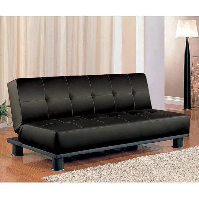 Contemporary Armless Sofa Bed (Black)