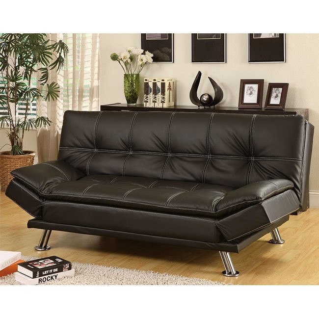 Contemporary Sofa Bed Black By Coaster Furniture 1 Reviews Furniturepick