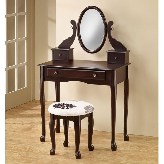 Traditional 2-Piece Vanity Set (Cappuccino)