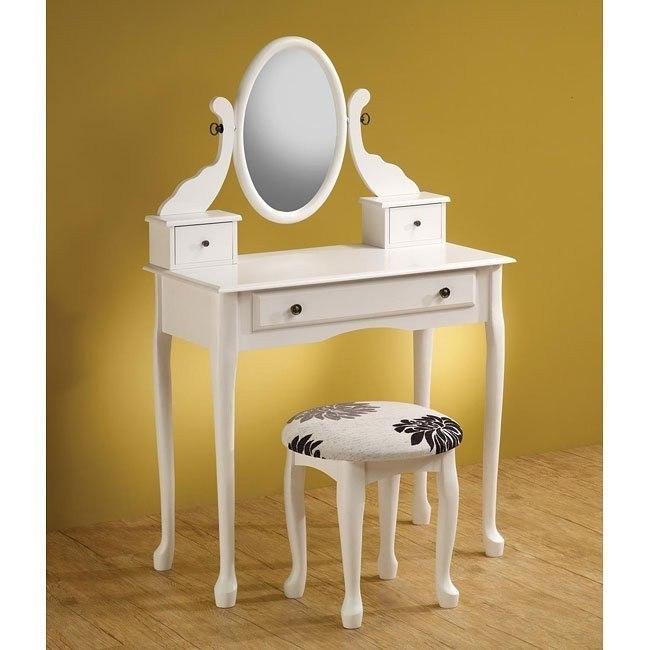 Traditional  2-Piece Vanity Set (White)
