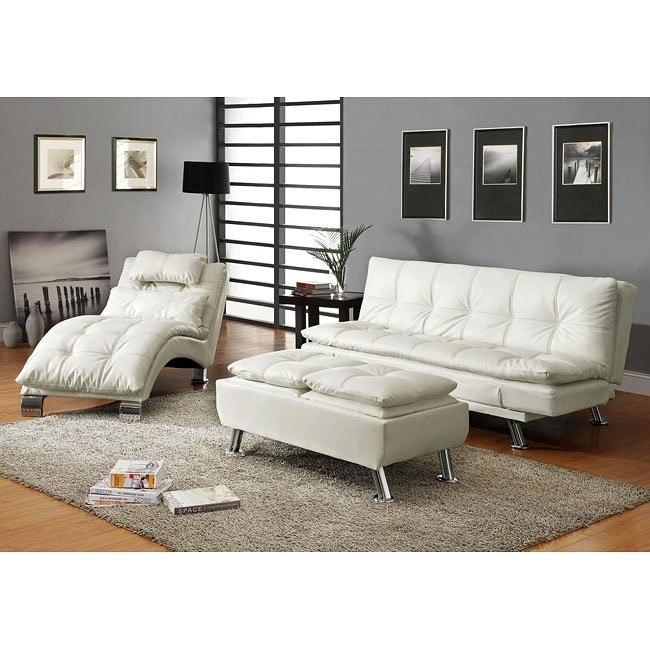 Contemporary Sofa Bed Set (White)