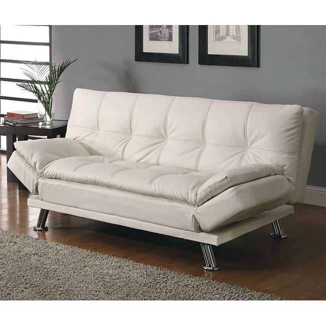 Contemporary Sofa Bed (White)