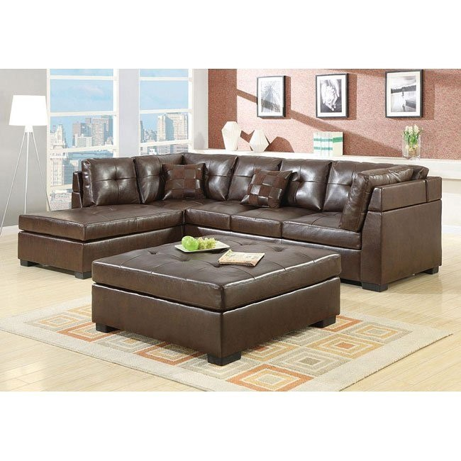 Darie Sectional Living Room Set (Brown)