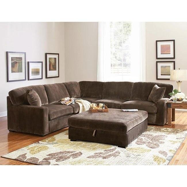 Luka Sectional Living Room Set (Coffee)
