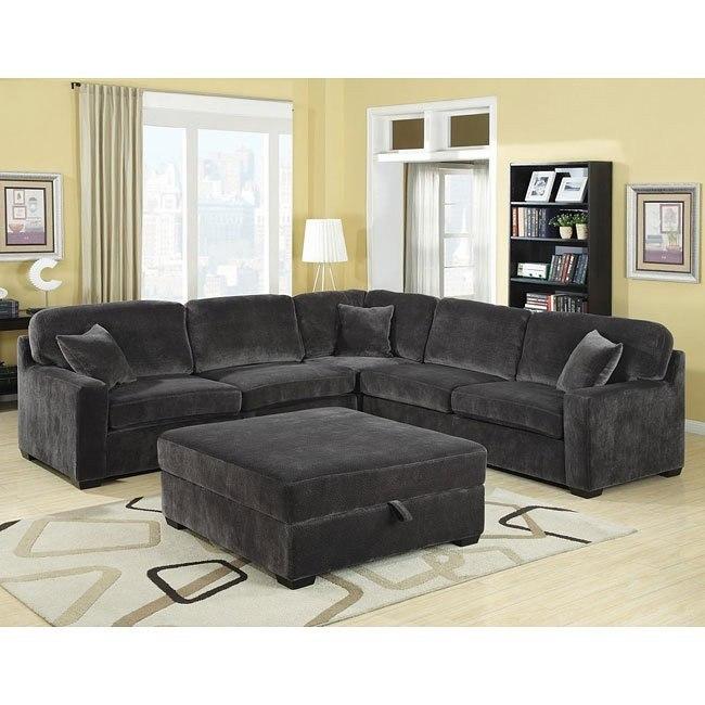 Luka Sectional Living Room Set (Charcoal)