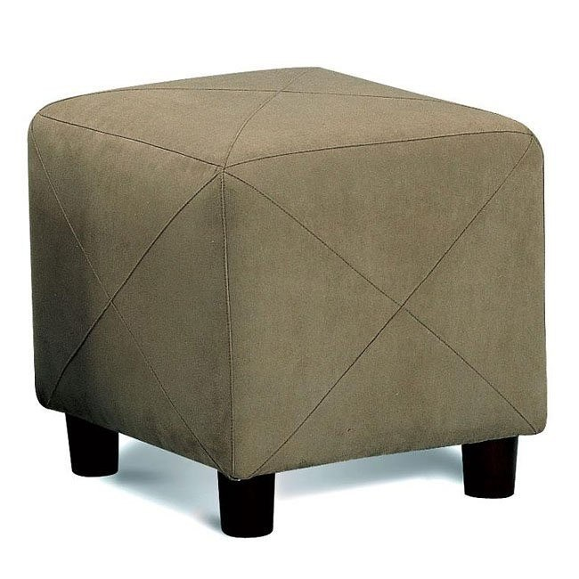Soft Microfiber Ottoman (Hunter Green)