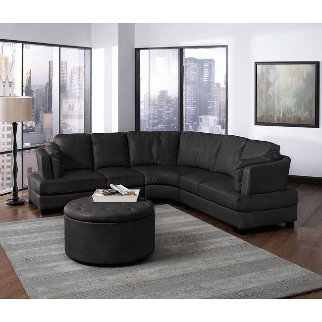 Landen Sectional Living Room Set (Black)