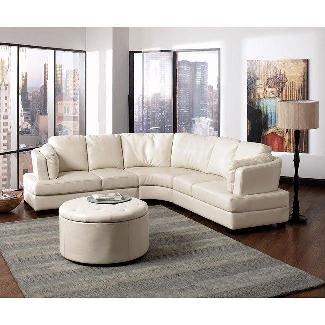 Landen Sectional Living Room Set (Cream)
