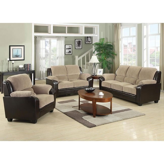 Monika Living Room Set (Beige)